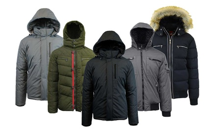 Spire By Galaxy Men's Heavyweight Jacket with Detachable Hood