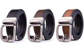 Braveman Men's Leather Ratchet Casual Belt