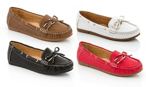 Lady Godiva Women's Boat Shoes With Buckle