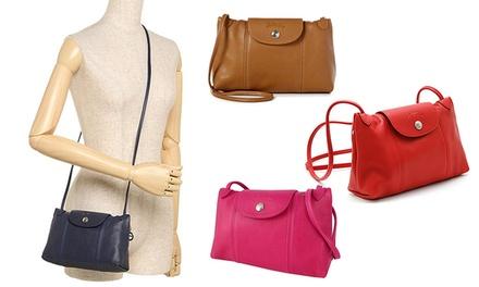 4edb64b87609  199 for a Longchamp Le Pliage Cuir Crossbody Bag