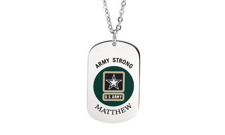 Engraved U.S. Army Tag Pendant from Monogramhub.com