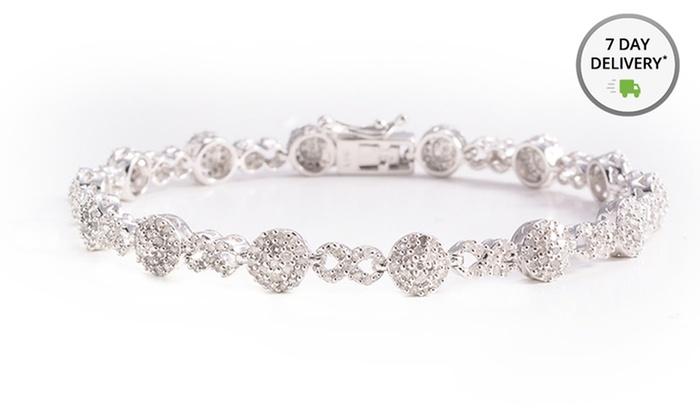 2-ct.tw. Diamond Bracelet: 2-ct.tw.Diamond Bracelet in Platinum Over Sterling Silver. Free Returns.