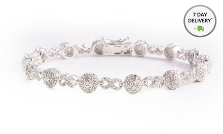 2-ct.tw. Diamond Bracelet in Platinum Over Sterling Silver. Free Returns.