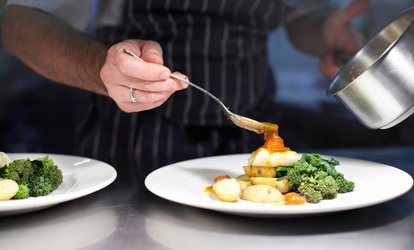 image for Two- or Three-Course British Meal with a Glass of Wine for Two at Courthouse Hotel