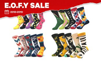 Men's Novelty Printed Socks