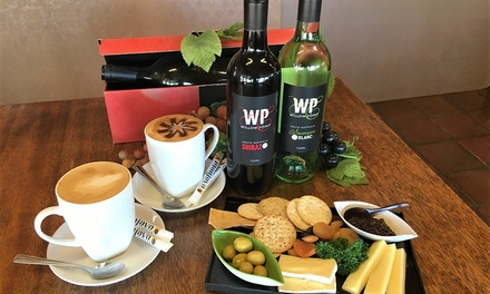 Cheese Plate with Tasting and Take Home Bottles $25 or 4 People $49 at Willow Point Wines Up to $85.20 Value
