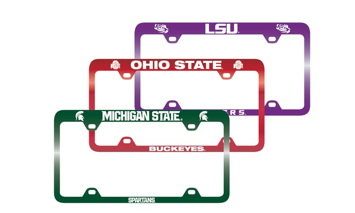 NCAA Laser-Engraved License Plate Frame