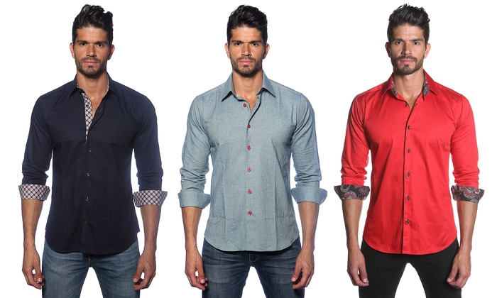 Jared Lang Slim-Fit Button-Downs | Groupon Goods