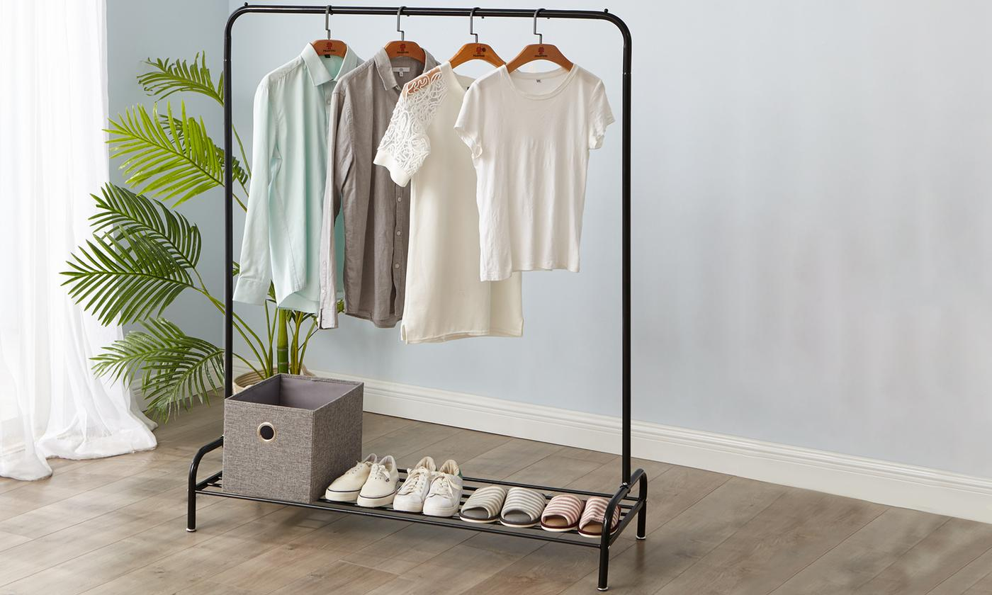 Heavy Duty Clothes Rail with Shoe Rack from £17.99 (40% OFF)