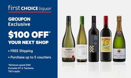 First Choice Liquor: $10 Online Credit + Free Shipping $199 Min Spend