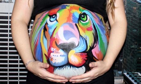 Sesión de belly painting detalle o básica para embarazada desde 34,90 € en Coral Leyva