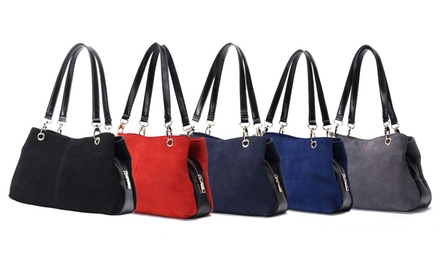 One (£19.99) or Two (£39.98) Women's Nubuck Suede Leather Handbags (78% Off)