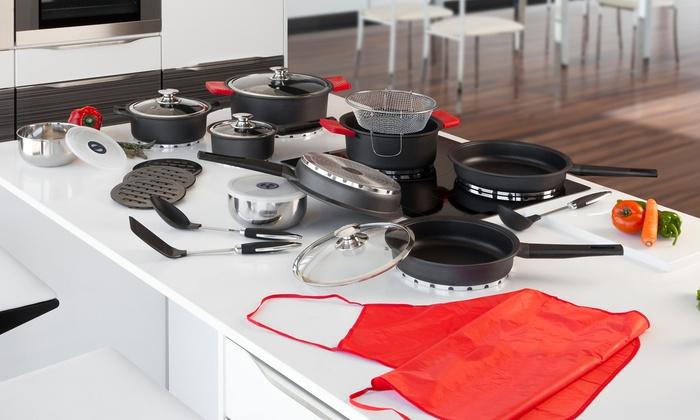 Bater a de cocina newlux 27 pzs groupon goods for Bateria cocina profesional