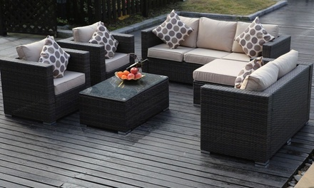 Garden Furniture Vancouver vancouver five- or eight-seater rattan garden furniture set with