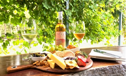 Local Cheese and Produce Platter with Wine for Two $29 or Four People $54 at Doc Adams Wines Up to $132 Value