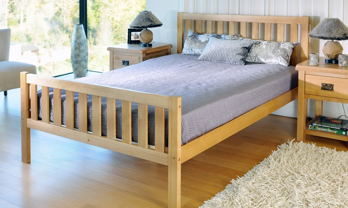 Naples Solid Pine Bedframe with Optional Mattress from £74.99