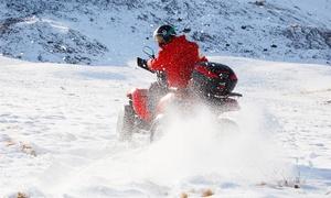 Quad Spass: 1 Std. Spezial-Quad-Wintertour für 1 oder 2 Personen mit Quad Spass (bis zu 58% sparen*)