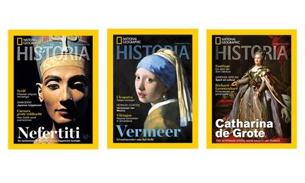 4, 8 of 12 nummers van National Geographic Historia