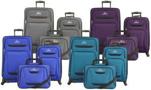 Skyway Discovery Soft-Sided Spinner Luggage Set (3-Piece)
