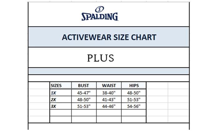 Spalding Women S Tummy Control Pants Or Capris Size 2x