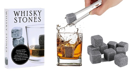 9- or 18-Piece Whisky Chilling Stones Set