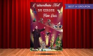 """ART SCENIQUE: 1 Place pour le spectacle """"l'Extraordinaire Noël du Cirque"""", date au choix, à 15 € au Zénith de Caen ou Rouen"""