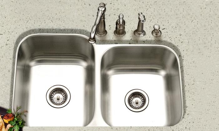 Up To 65% Off on Houzer Eston Series Kitchen Sink | Groupon Goods