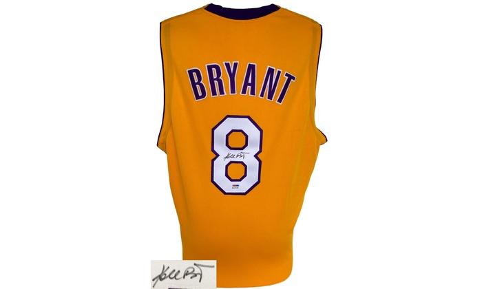 Kobe Bryant Autographed Custom Jersey: Lakers Star Kobe Bryant Autographed Custom Jersey
