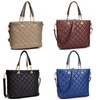 MMK Collection Winter Vegan Leather Quilted Tote with Chained Handles