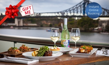 Waterfront Dining with Wine for Two Two $69 or Three Courses $99 at Friday's Riverside .50 Value
