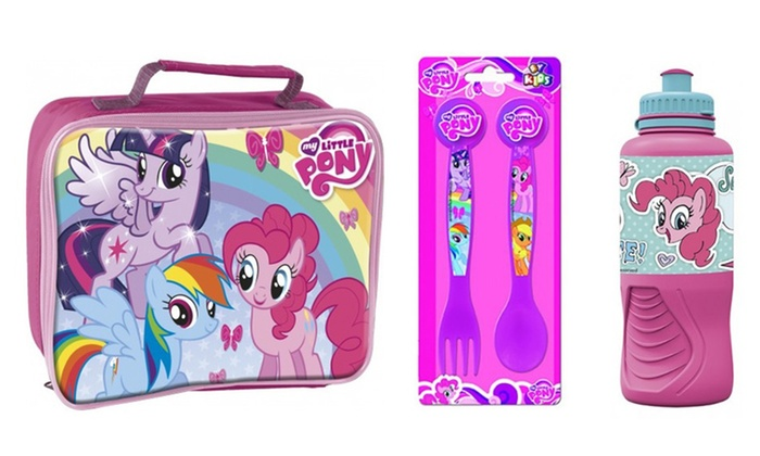 my little pony lunch set groupon goods. Black Bedroom Furniture Sets. Home Design Ideas