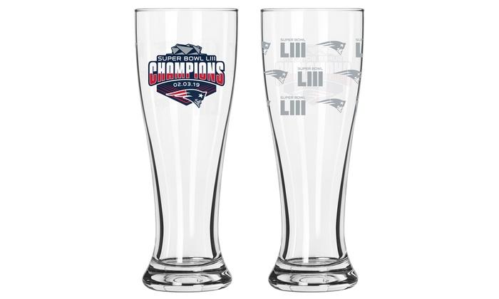 New England Patriots Shot Glass 2 Pack Satin Etch