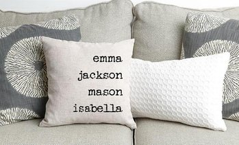 Up to 82% Off Personalized Family Name Throw Pillow Covers