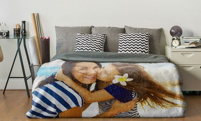 image for Standard or Premium Personalised Polar Fleece Blanket in a Choice of Size from Photo Gifts (Up to 83% Off)