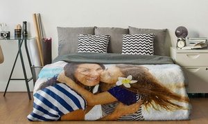Photo Gifts: Standard or Premium Personalised Polar Fleece Blanket in a Choice of Size from Photo Gifts (Up to 83% Off)