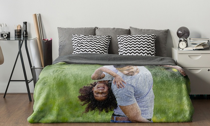 up to 84 off on custom fleece photo blanket groupon goods