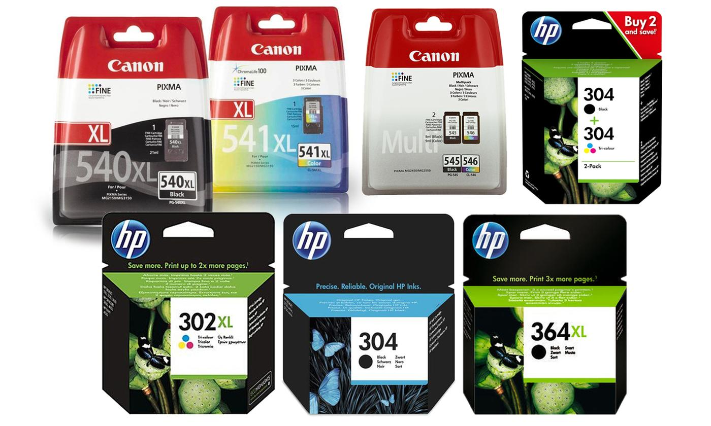 Original HP or Canon Printer Ink Cartridges With Free Delivery
