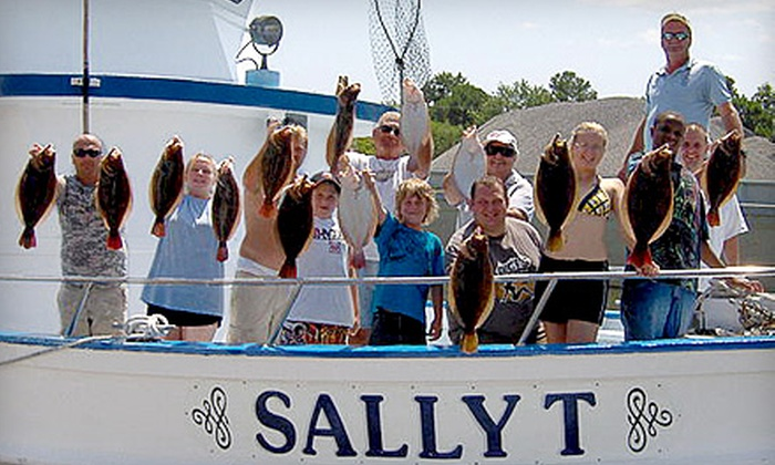Sally T Fishing - Downtown Hampton: Full-day Weekday or Weekend Fishing Trip for Two from Sally T Fishing in Hampton (Half Off)