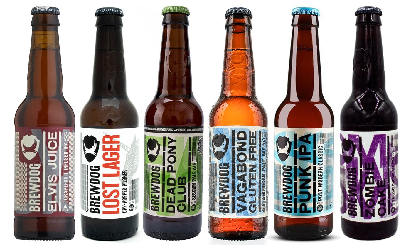 Anielas Selection of Brewdog Pack of 16 Mixed Alcohol Beers 33cl With Free Delivery