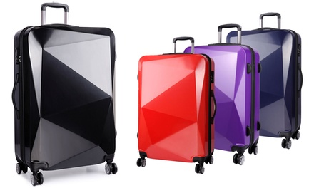 One or Three Diamond-Shaped Suitcases in Choice of Colour