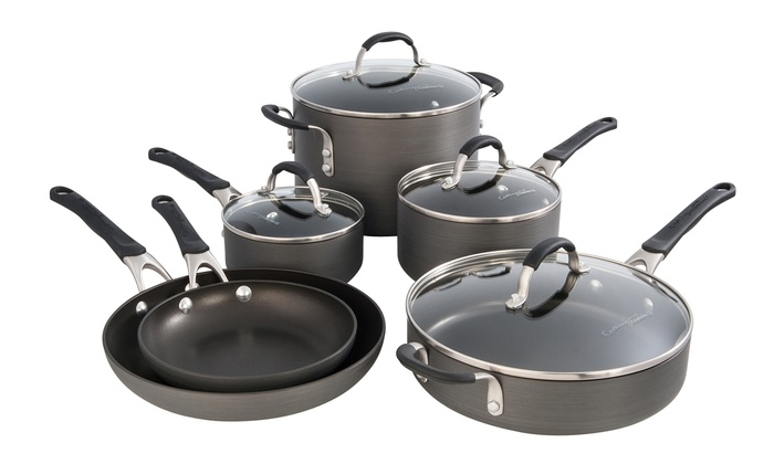 cooking with calphalon nonstick cookware set 10piece cooking