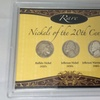 Rare Nickels of the 20th Century and Certificate of Authenticity (3pc)