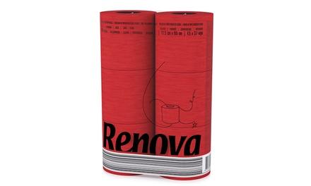 Six Rolls of Renova Luxury Red Toilet Paper