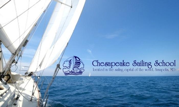 Chesapeake Sailing School - Annapolis: $87 for One Day of Try It Intro to Sailing from Chesapeake Sailing School in Annapolis ($175 Value)