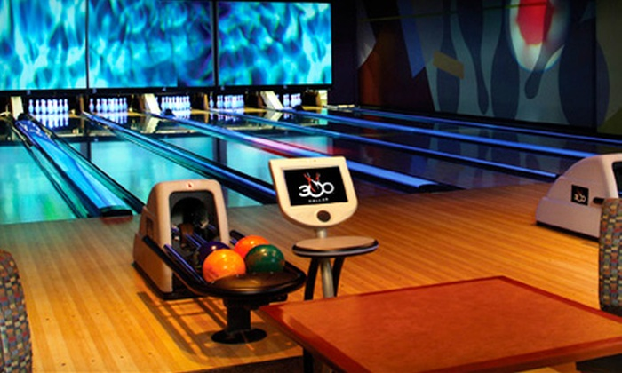 300 Dallas - North Dallas: $25 for $50 Worth of Bowling and Shoe Rental at 300 Dallas in Addison
