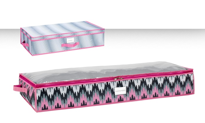 under the bed storage containers groupon goods. Black Bedroom Furniture Sets. Home Design Ideas