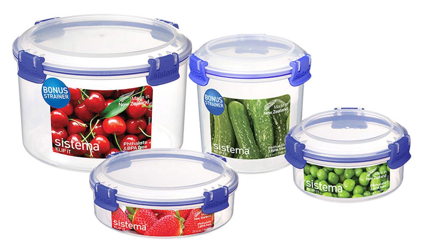 Sistema Klip It Round Food Storage Container Bundle
