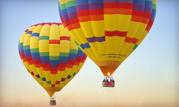 Rainbow Ryders, Inc. - Alban Hills: Hot Air Balloon Ride for One or Two with Champagne Toast and Breakfast at Rainbow Ryders, Inc. (Up to 51% Off)