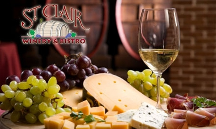 St. Clair Winery and Bistro - West Old Town: $7 for a Wine Flight and American Nosh Platter at St. Clair Winery and Bistro ($14.95 Value)
