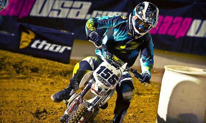 GEICO MiniMotoSX - Orleans Arena: GEICO MiniMotoSX Sponsored by Monster Energy for Two or Four at Orleans Arena on May 6 (Up to 69% Off)